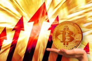 仮想通貨の上昇
