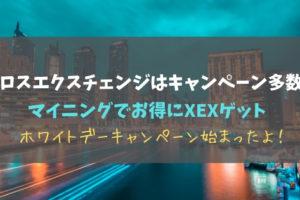 クロスエクスチェンジはキャンペーン多数!マイニングでお得にXEXゲット