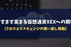 ますます高まる仮想通貨XEXへの期待【クロスエクスチェンジの買い戻し発動】