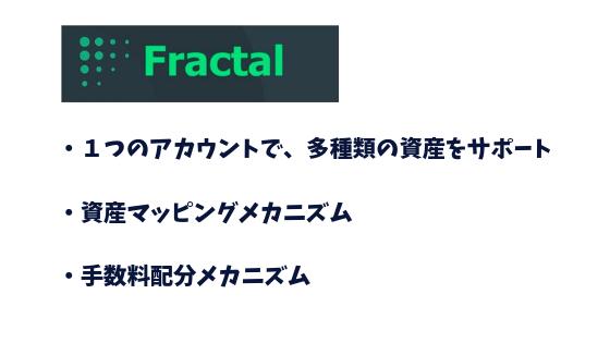 パブリックチェーン(Fractal)の大きな特徴