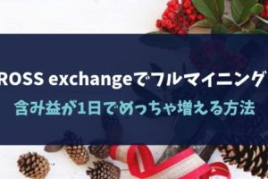 CROSS exchangeでフルマイニング!含み益が1日でめっちゃ増える方法