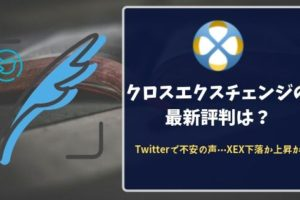 【XEX暴落】クロスエクスチェンジの最新評判は?Twitterで不安の声⋯XEX下落か上昇か