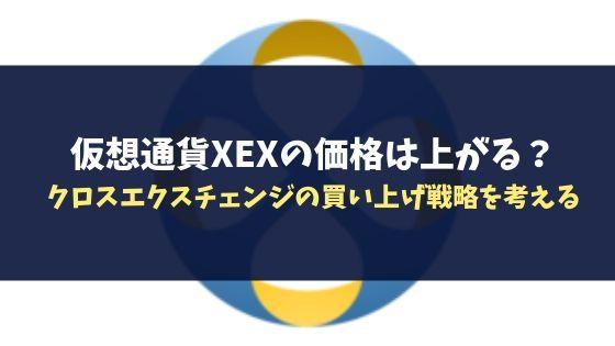 仮想通貨XEXの価格は上がる?クロスエクスチェンジの買い上げ戦略を考える