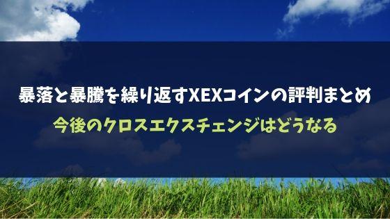 暴落と暴騰を繰り返すXEXコインの評判まとめ|今後のクロスエクスチェンジはどうなる