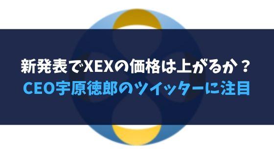 新発表でXEXの価格は上がるか?クロスエクスチェンジCEO宇原徳郎のツイッターに注目