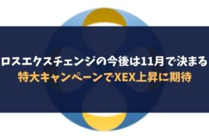 クロスエクスチェンジの今後は11月で決まる?特大キャンペーンでXEX上昇に期待