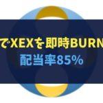 【クロスエクスチェンジ】プレミアム∞でXEXを即時BURN!配当率85%