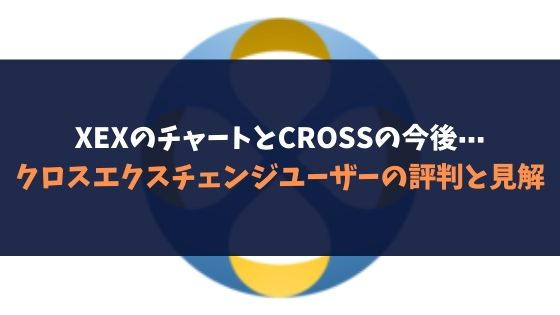 XEXのチャートとCROSSの今後⋯クロスエクスチェンジユーザーの評判と見解