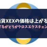 仮想通貨XEXの価格は上がるのか?MOONするかどうかクロスエクスチェンジの今後