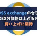 CROSS exchangeのセミナー後はXEXの価格は上がるのか?買い上げに期待
