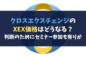 クロスエクスチェンジのXEX価格はどうなる?判断のためにセミナー参加も有りか