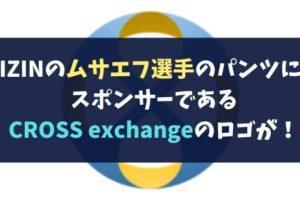 RIZINのムサエフ選手のパンツに、スポンサーであるCROSS exchangeのロゴが!評判まとめ