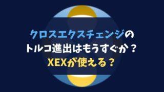 クロスエクスチェンジのトルコ進出はもうすぐか?XEXが使える?