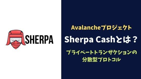 Avalancheにおける期待のプロジェクト「Sherpa Cash」とは?プライベートトランザクションの分散型プロトコル